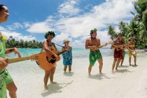 Paul Gauguin private beach Motu Mahana