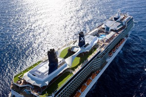 Celebrity Solstice - Aerial at Sea Miami Shoreline Celebrity Cruises
