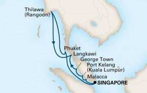 フォーレンダム アジアアドベンチャー シンガポール発着 14泊