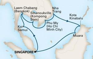 フォーレンダム 極東の道 シンガポール発着 14泊